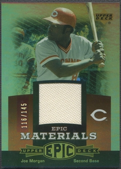 2006 Upper Deck Epic #JO2 Joe Morgan Materials Red Jersey #116/145