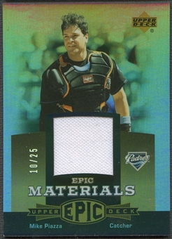 2006 Upper Deck Epic #MP2 Mike Piazza Materials Gold Jersey #10/25