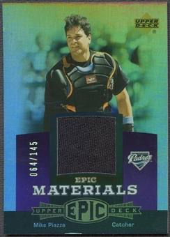 2006 Upper Deck Epic #MP2 Mike Piazza Materials Dark Purple Jersey #064/145