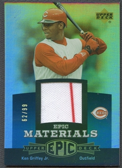 2006 Upper Deck Epic #KG2 Ken Griffey Jr. Materials Teal Jersey #62/99
