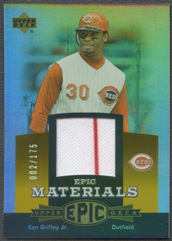2006 Upper Deck Epic #KG3 Ken Griffey Jr. Materials Orange Jersey #002/175