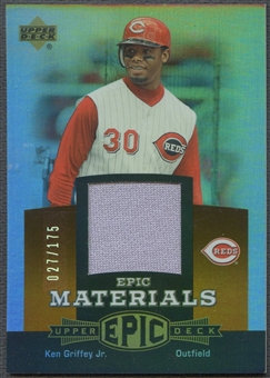 2006 Upper Deck Epic #KG3 Ken Griffey Jr. Materials Dark Orange Jersey #027/175