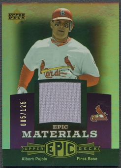 2006 Upper Deck Epic #AP1 Albert Pujols Materials Dark Purple Jersey #005/125