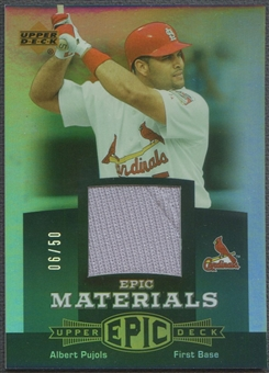 2006 Upper Deck Epic #AP2 Albert Pujols Materials Dark Green Jersey #06/50