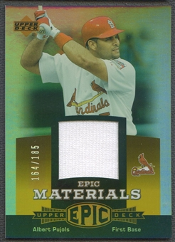 2006 Upper Deck Epic #AP2 Albert Pujols Materials Orange Jersey #164/185