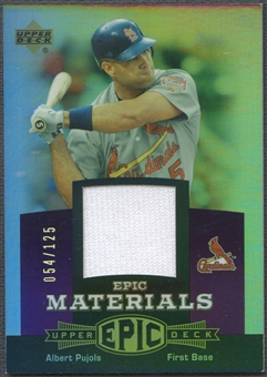 2006 Upper Deck Epic #AP2 Albert Pujols Materials Dark Purple Jersey #054/125