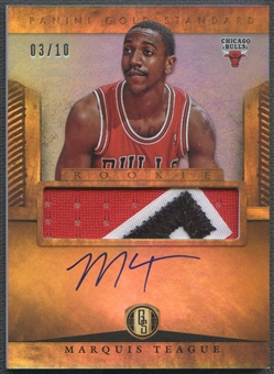 2012/13 Panini Gold Standard #282 Marquis Teague Platinum Rookie Patch Auto #03/10
