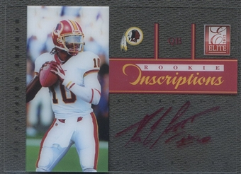 2012 Elite #2 Robert Griffin III Rookie Inscriptions Red Ink Auto /30*