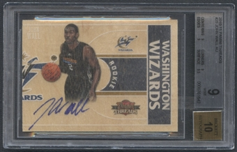 2010/11 Panini Threads #25 John Wall Rookie Auto #019/399 BGS 9