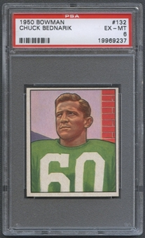 1950 Bowman Football #132 Chuck Bednarik PSA 6 (EX-MT) *9237