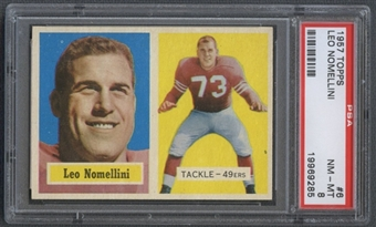 1957 Topps Football #6 Leo Nomellini PSA 8 (NM-MT) *9285