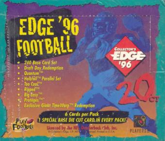1996 Collector's Edge Football 20 Pack Box