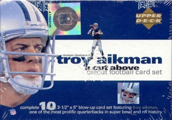 1997 Upper Deck Troy Aikman Die Cut Football Set