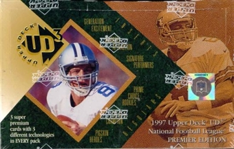 1997 Upper Deck UD3 Football Hobby Box