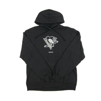 Pittsburgh Penguins Black Reebok Fleece Hoodie (Adult S)