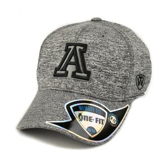 Arizona Wildcats Top Of The World Steam Heather Grey One Fit Flex Hat (Adult One Size)