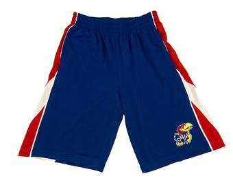 Kansas Jayhawks Colosseum Royal Blue Apex Shorts (Adult S)