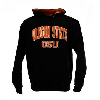 Oregon State Beavers Colosseum Black Zone Pullover Fleece Hoodie (Adult XL)
