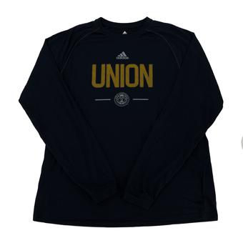 Philadelphia Union Adidas Navy Climalite Performance Long Sleeve Tee Shirt (Adult M)