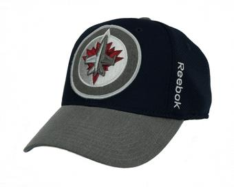 Winnipeg Jets Reebok Navy Playoffs Cap Flex Fitted Hat (Adult S/M)