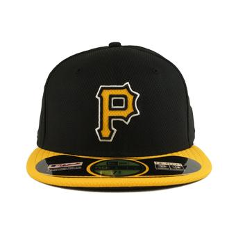 Pittsburgh Pirates New Era Diamond Era 59Fifty Fitted Black & Yellow Hat (7 5/8)