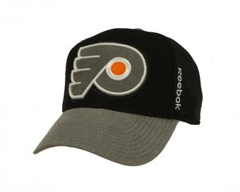 Philadelphia Flyers Reebok Black Playoffs Cap Fitted Hat (Adult L/XL)
