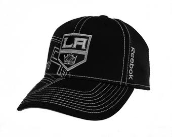 Los Angeles Kings Reebok Black Draft Cap Fitted Hat (Adult S/M)