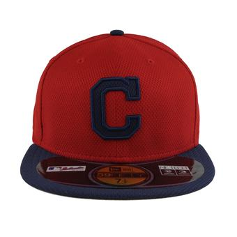 Cleveland Indians New Era Diamond Era 59Fifty Fitted Red & Navy Hat (7 3/4)