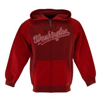 Washington Nationals Majestic Red First Play Full Zip Fleece Hoodie (Adult M)