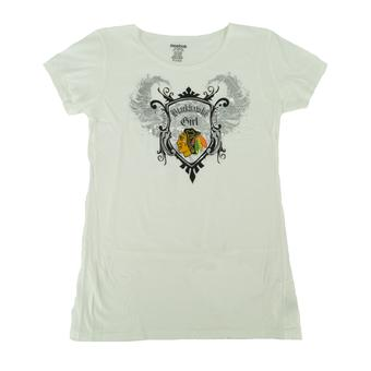 Chicago Blackhawks Reebok White Team Queen Tee Shirt