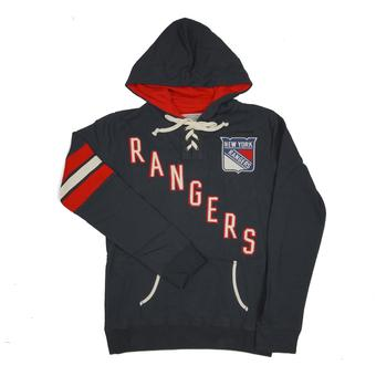 New York Rangers Old Time Hockey Navy Nadia Fleece Hoodie (Womens XL)