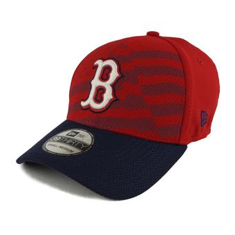 Boston Red Sox New Era Red 39Thirty Stars & Stripes Flex Fit Hat (Adult L/XL)