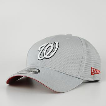 Washington Nationals New Era Grey 39Thirty Double Timer Flex Fit Hat (Adult L/XL)
