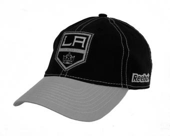 Los Angeles Kings Reebok Black Slouch Flex Fitted Hat (Adult S/M)
