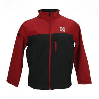 Nebraska Cornhuskers Colosseum Red & Grey Yukon II Full Softshell Zip Jacket (Adult L)
