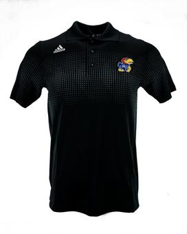 Kansas Jayhawks Adidas Black Performance Coaches Series Polo (Adult M)