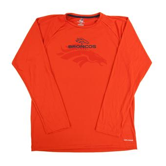 Denver Broncos Majestic Orange To The Limits Cool Base Performance LS Tee Shirt