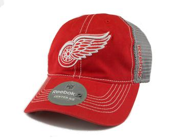 Detroit Red Wings Reebok Red/Grey Cotton Cap Fitted Hat (Adult L/XL)