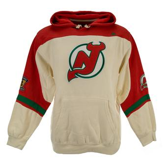 New Jersey Devils Majestic Red Vintage Ice Classic Fleece Hoodie (Adult S)
