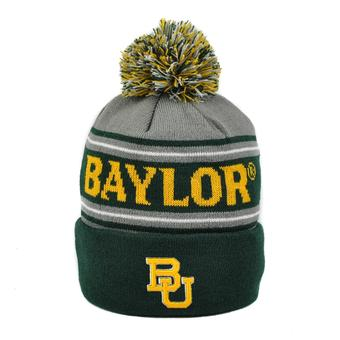 Baylor Bears Top Of The World Green & Gray Ambient Cuffed Pom Knit Hat (Adult One Size)