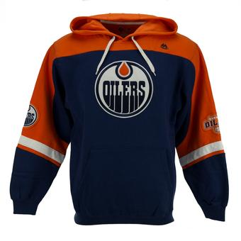 Edmonton Oilers Majestic Navy Ice Classic Fleece Hoodie (Adult XL)