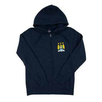 Manchester City F.C Majestic Navy Crest Fleece Full Zip Hoodie (Adult S)