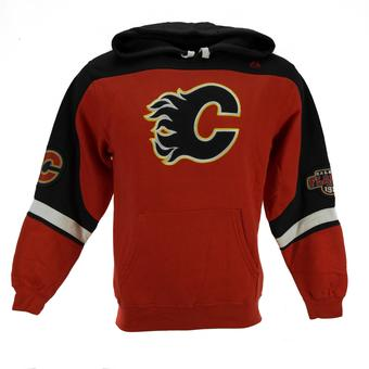 Calgary Flames Majestic Red Ice Classic Fleece Hoodie