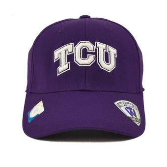 TCU Horned Frogs Top Of The World Premium Collection Purple One Fit Flex Hat (Adult One Size)