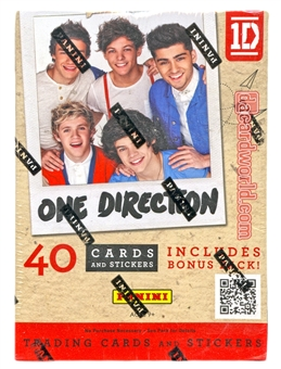 2013 Panini One Direction 4-Pack Value Box (40 Cards) (Lot of 10)