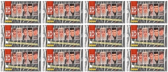 2013 Panini One Direction Collector Pack (Lot of 12)
