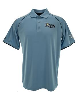 Tampa Bay Rays Majestic Coastal Blue Bases Loaded Polo Shirt (Adult XXL)