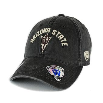Arizona State Sun Devils Top Of The World Culture Grey One Fit Flex Hat (Adult One Size)