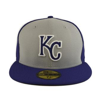 Kansas City Royals New Era Diamond Era 59Fifty Fitted Royal & Gray Hat (7 3/4)
