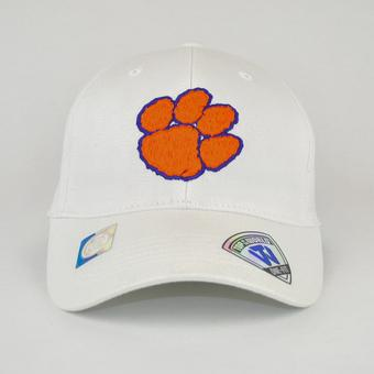 Clemson Tigers Top Of The World Premium Collection White One Fit Flex Hat (Adult One Size)